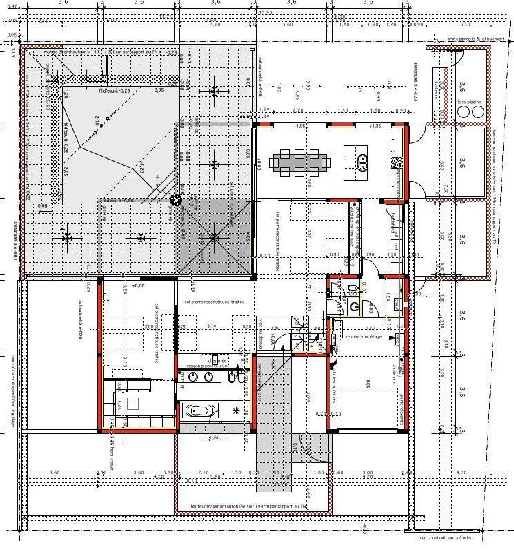 Plan Coupe Maison: Plan De Maison 1/100